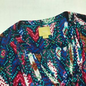 Anthropologie Maeve Colorful Blouse